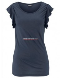 Women's top with ruffled sleeves