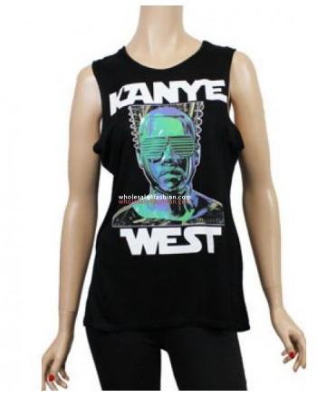 Kanye West Black Shirt