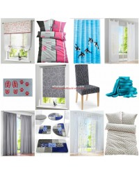Home Textiles Mix - curtains, carpets, bedding, mat, shower curtain etc
