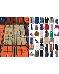 Carriages of palletized goods, Container clothing Textiles Shoes Stocklots