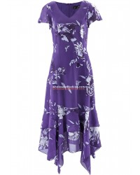 Womens dress with zip skirt and floral print