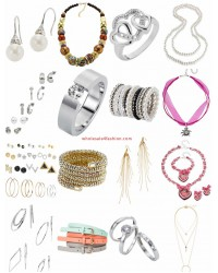 Accessories Mix - Chain Bracelet Earrings Belt Rings