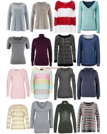 Womens Fall Winter Clothing Mix - Knit Pullover Sweater Long Sleeve Shirts etc