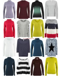 Womens Autumn Winter Fashion Textiles Mix - Knit Pullover Sweater Long Sleeve Shirts etc
