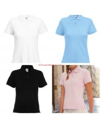 Fruit of the Loom Womens Polo Piquet Mix