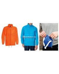 Mens Rain Jacket Orange Jacket with Hood