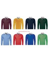 Mens Boys Polo Shirt Long Sleeve Polo Longsleeve Polos