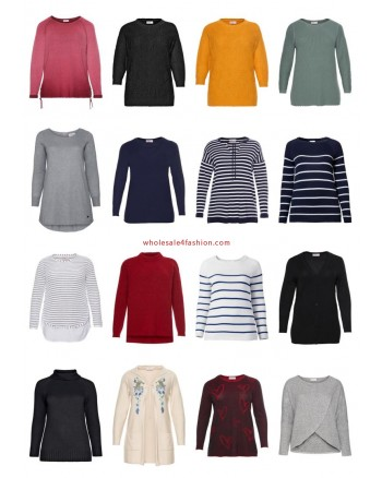 Ladies Plus Size Fashion Plus Size Pullover Sweater Knitwear Big Sizes Remaining Stock Mix