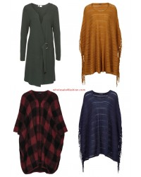 Ladies Ponchos Knit Cardigan Sweater Fall Mix Clearance Sale