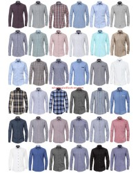 Men Shirts Brands Shirt Long Sleeve Business Casual Mix