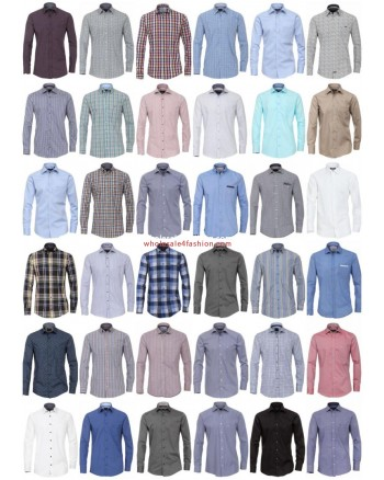 Men Shirts Brands Shirt Long Sleeve Business Casual Mix