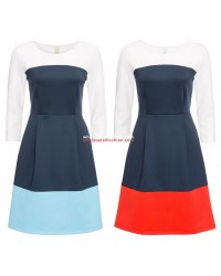Womens dress with block colors 2 colors dresses