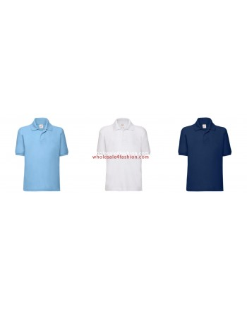 Fruit of the Loom Kids Polos Uni Polo Shirt Mix