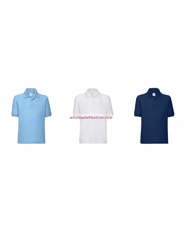 e0794886 Fruit of the Loom Kids Polos Uni Polo Shirt Mix