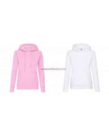 Fruit of the Loom Womens Uni Hoodie Pullover Hoodie Sweater Mix