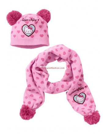 Kids Hello Kitty Scarf Hat Set Girl