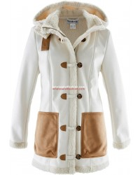 Ladies lambskin faux jacket winter jacket