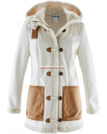 Ladies lambskin faux jacket winter jacket