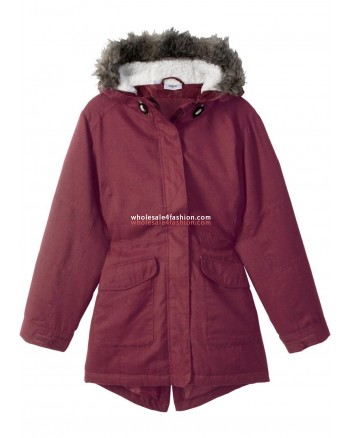 Kids Girl Jacket Transition Jacket with Hood red