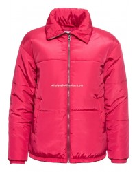 Ladies jacket winter padded jacket women pink