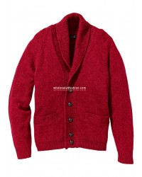 Mens cardigan red Regular Fit