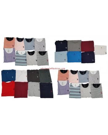 US Polo Assn. T-Shirt Uni Striped Men Shirts Brands Mix
