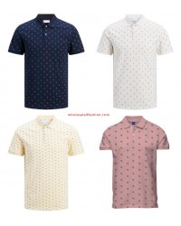 Jack & Jones polos with pattern mens polo shirt mix